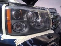 Rénovation d'optiques de phares sur un Range Rover